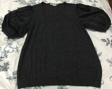 Basque - Charcoal Sweater Blouse - Size 16