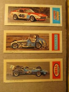 1973 Nabisco Speedway Cards_Lot of 3_BELL_SIMONIZ_CRAGAR