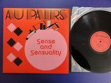 AU PAIRS SENSE AND SENSUALITY earmark re-issue Lp MINT