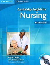 Cambridge Professional ENGLISH FOR NURSING Pre-Intermediate w Audio CDs @NEW@