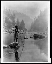 Edward S Curtis Native American 1923 Hupa Indios Repro impresión 5x4 Pulgadas