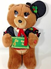 House of Lloyd Teddy Bear Mr Christmas Carols Stuffed Animal Musical Singing 15""