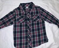 Old Navy Baby Boys Plaid Check Shirt Size 18-24 months Blue Redd Button Down