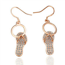 Wholesale Price 18K Rose Gold GP Circle With Shoes Woman Earrings Dangle E005