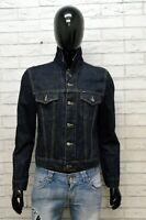 Giacca in Jeans Uomo GAS Taglia S Giubbotto Giubbino Jacket Man Denim Scuro
