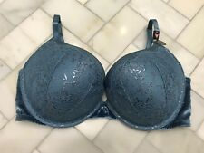 28de5ee5f1 NWT Victoria s Secret Bombshell Add 2 Cups Push-up Bra 38C Blue Shine  Current!