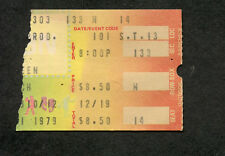 1979 Bruce Springsteen concert ticket stub Richfield Oh Darkness Edge Of Town