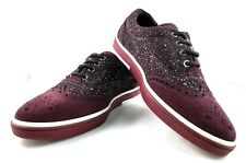 Jimmy Choo Brian Wool Suede Merlot Cherry Lace Shoes size 43