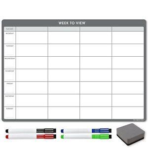 Kühlschrank Wochen Planer Trocken Entfernbar Magnetisch Kalender Wischen To-Do