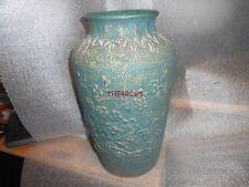 Red Wing Union Stoneware Brushware Dogwood Green Vase Matte Finish