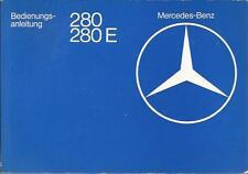 MERCEDES 123 E-Klasse 280 280 E Betriebsanleitung 1975 Bedienungsanleitung BA