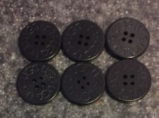 SIX (6) UGGs Replacement Buttons For Your Boots - BLACK (3 cm.) Ugh spare