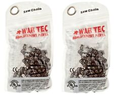 "WAR TEC 16"" Chainsaw Saw Chain Pack Of 2 Fits McCULLOCH CS400T"
