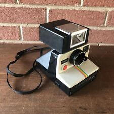 Vintage POLAROID Land Camera - White Rainbow One Step SX-70 w/ ITT Magicflash