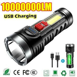 Superhell 100000lm Taschenlampe LED Taktisches Arbeitslicht USB Wiederaufladbar.