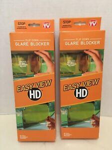 Flip Down Glare Blocker Easy View HD As Seen on TV Pack of 2  NEW