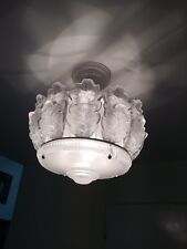 LALIQUE Chene Crystal Chandelier 1955 Large Size
