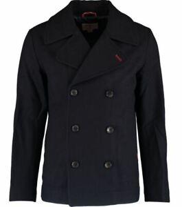 Brooks Brothers men's navy peacoat - Red Fleece line, Merino Wool blend