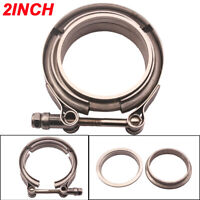 """304Stainless Steel 2"""" 51mm V Band Clamp Car Turbo Downpipe Female Male Flange"""