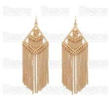 10cm large GOLD FASHION FRINGE EARRINGS CHAINS statement TIERED TIERS chandelier
