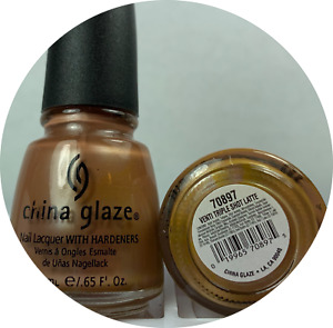 China Glaze Nail Polish VENTI TRIPLE SHOT LATTE #70897 - 597 Guilty Pleasures