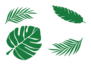 Tropical Leaves Stencil shabby chic, restoration wall art, mylar reusable