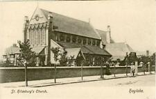 PRINTED POSTCARD ST HILDEBURG'S CHURCH, HOYLAKE (NEAR LIVERPOOL) CHESHIRE WRENCH