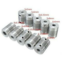 1PC 5/6/6.35/8mm Flexible Shaft Coupling Rigid  For CNC Motor Coupler Connector