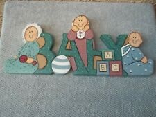 Nursery Tole Painted Wall Hanging
