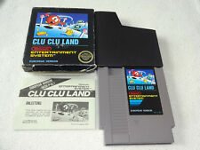 Clu Clu Land NES Game Bees Digger complete with small boxed and instructions