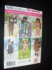 """18"""" Doll NEW 1089 Simplicity Pattern American Girl 6 Dresses Tunic"""