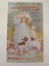 """Victorian Hoyt's German Cologne Nip Advertising Sign 5 1/2"""" X 9"""""""
