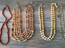 Vintage Necklaces Lot of 4 Chokers Beads