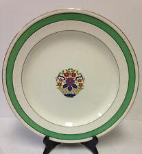 """Vintage Myott Son & Co England Large Platter Floral Plate Dish Gold Rim 13 1/4"""""""