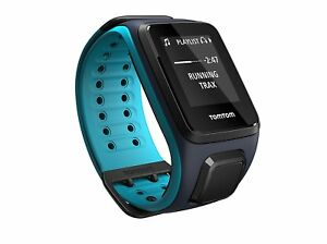 TomTom Runner 2 blau Multisport + Music Laufuhr L GPS-Tracking blue + Kopfhörer