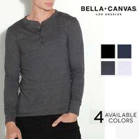 Bella Canvas T-Shirt 3150 Mens Henley Longsleeve Long Sleeve Cotton Jersey