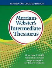 Merriam-Webster's Intermediate Thesaurus, Inc. 9780877791768 Free Shipping-,