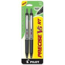 Pilot Precise V5 Rt Retractable Rolling Ball Needle Point Pens Black 2 Ea