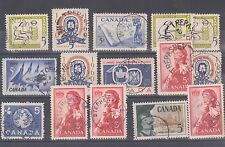 Large lot of 65 Newfoundland NFLD CANCELS Retail $65 Canada used