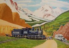Rio Grande Southern RGS Railroad Train Original Oil Painting by Robert Chisholm