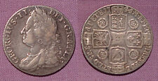 1745 KING GEORGE II SHILLING - Roses in Angles