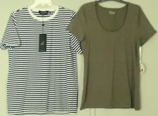 FIFTH LABEL stripe T-SHIRT + BETTY BASICS Britney Scoop TEE  NEW! ~ Women sz 16