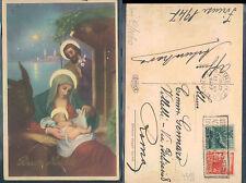 BUON NATALE - LA SACRA FAMIGLIA - ANNO 1947 -   (rif.fg. 1644)