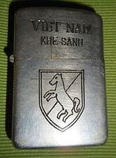 KHE SANH - 1950s ORIGINAL ZIPPO LIGHTER - 11th ARMORED CAVALRY, Vietnam War 8317