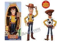 "Disney Store Toy Story 4 INTERACTIVE TALKING WOODY 15"" 10+ Phrases NEW PIXAR"