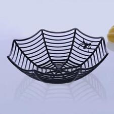 Spiderweb candy snack sweet basket bowl Halloween fancy dress party tableware