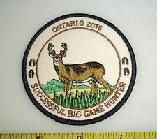 ONTARIO 2016 BIG GAME HUNTER,HATS FOR HIDES PATCH,MNR, MOOSE,DEER,BEAR,HUNTING