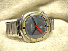 """""""Vintage TV"""" shape Accutron watch All Stainless w/ 2 N O S bracelets & serviced!"""