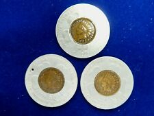 Group of (3) 1901 Encased Indian Cents- Pan-American Expo, Buffalo Ny