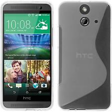 Silicone Case for HTC One E8 S-Style transparent + protective foils